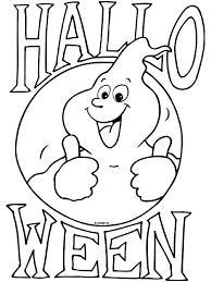 Kleurplaat Spookje Halloween Kleurplatennl