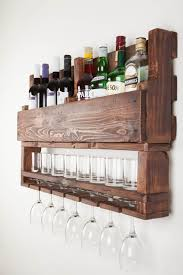 Unbelievable Wine Rack From Wood For Wall Reclaimed Pic Of Hanging Concept  And Opener Style Wall