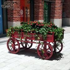 wooden flower cart supplieranufacturers at decorative garden wagon carts wagons