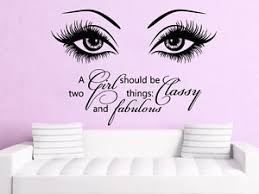 Beauty Salon Quotes And Sayings Best Of Eye Wall Decals Make Up Vinyl Stickers Beauty Salon Quote A Girl
