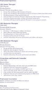 massage therapist resume sample massage therapist resume therapy Resume  Best Bullet Form Aba Therapist Resume Templates
