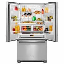 kitchenaid refrigerator french door. krfc302ess kitchenaid 22 cu.ft. 36-inch width counter depth french door refrigerator with interior dispenser - stainless steel kitchenaid