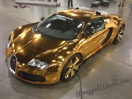 Gold-wrapped Bugatti Veyron ...  Autoevolution.com