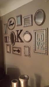 Picture Frame Collage Wall Turned Out So Cute Decorations regarding sizing  736 X 1308