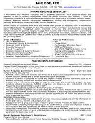 Resume Sample   International Human Resources Executive Page
