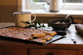 kitchen table with food. Kitchen Table Cake Eat Food Pot Nutrition Feed With F
