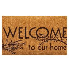 Decorating coir door mats pics : Home & More Welcome 17 in. x 29 in. Coir Door Mat-121951729 - The ...