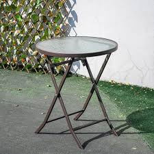 outdoor patio metal foldable dining