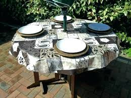 patio table tablecloths good round tablecloth with umbrella hole and s fitted outdoor ideas vinyl