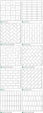 Herringbone  tile patterns - I think I like the English Bond version  best. think subway tiles