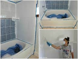 painting bathroom tips for beginners. how to refinish outdated tile (yes, i painted my shower). painting bathroomsshower bathroom tips for beginners