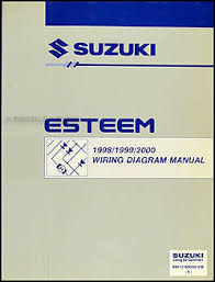 1998 2000 suzuki esteem wiring diagram manual original 1998 2001 suzuki esteem wiring diagram manual original