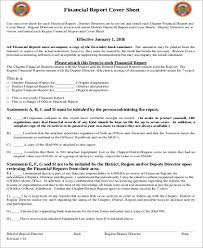 Financial Report Cover Page Report Cover Page Sample 9 Examples In Word Pdf