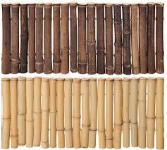 black bamboo garden border edging even