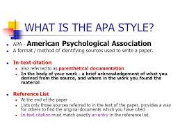American Psychology Association Format What Apa Style Rome Fontanacountryinn Com