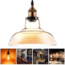 vintage primitive glass hanging ceiling lamp household