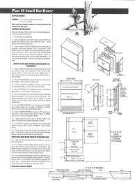 bat house plans pdf beautiful mon nest box designs barred owl house plans bird of bat