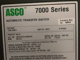 asco 1200a series 7000 automatic transfer switch ( 6046) Power Transfer Switch Asco 7000 Series Manual asco 1200a series 7000