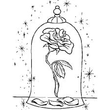 Disegno Di La Rosa Della Bella E La Bestia Da Colorare Painted