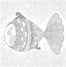 Kleurplaat Met Grote Vis In Het Water Geïsoleerd Op Een Witte