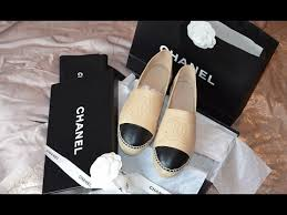 Chanel Espadrilles Size Chart Chanel Espadrilles Unboxing Price Fit Review Youtube