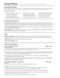 Resume Template For Art Director Sidemcicek Com
