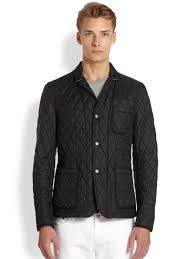 lyst burberry brit howe quilted jacket in black for men
