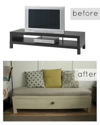 hack ikea furniture. Hack This Ikea TV Stand Into A Bench With Chalk Paint. Furniture