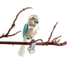 Weihnachtsschmuck Glasvogel Eule Formost