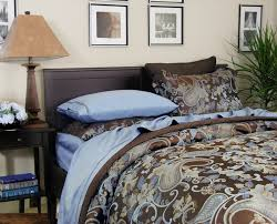 duvet covers brown and blue the duvets
