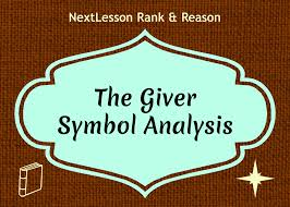the giver symbol analysis nextlesson thank you for adding this item