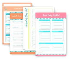 Baby Supplies Checklist New Baby Checklist Bundle Printable Hospital Packing List