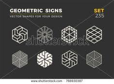 stylish vector logo emblems for your design simple universal geometric signs collection this vector on shutterstock find other images