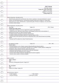 Credit Analyst Resume Templates Ms Word Doc Format