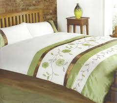 Bonnie Green Embroidered Floral Appliqué Embellished Bedding Set ...