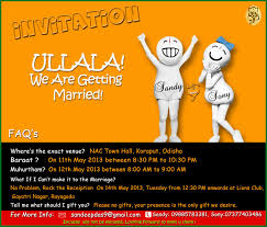 15 unique wedding invitations metro weddings india Funny Indian Wedding Invitation Cards make your wedding card funny and appealing by adding cartoon iconic characters like vodafone zoozoo funny indian wedding invitation cards for friends