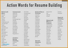 Verbs To Use On A Resume Beauteous Resume Action Words Aid For Selecting Action Verbs Vocabulary