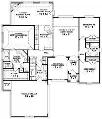 653887 3 bedroom 2 bath split floor plan house plans
