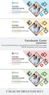 facebook cover template psd