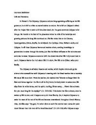 introduction to odyssey essay the introduction paragraph woodridge high school