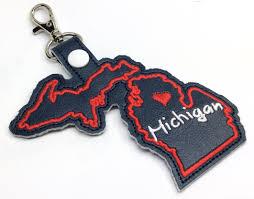 In The Hoop Luggage Tag Designs Michigan State Snap Tab Digital Download In The Hoop