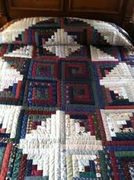 Lancaster County Amish Hand Quilted King Snowball Quilt - # 388 by ... & Lancaster County Amish Hand Quilted King Log Cabin Quilt #370 Adamdwight.com