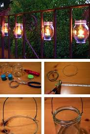 handmade outdoor lighting. recycling glass bottles for outdoor lighting handmade summer decorating