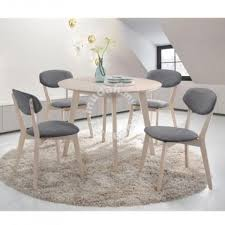 venti solid wood round dining table with 4 chairs furniture decoration for in others kuala lumpur