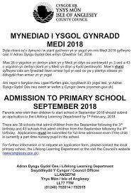 Admission Form For School Impressive Isle Of Anglesey CC On Twitter Admission To Primary School