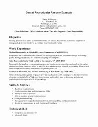 Receptionist Skills For Resume Cover Letter Example Template