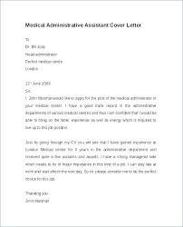 Medical Assisting Cover Letter Cover Letter Template For Medical