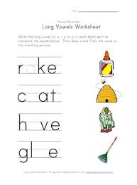 Teach your children long vowel sounds with these worksheets. Long Vowel Matching Worksheet A I O And U All Kids Network