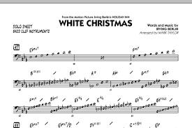 White Christmas Bass Clef Solo Sheet By Mark Taylor Jazz Ensemble Digital Sheet Music