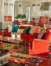 View in gallery Bold lampshades and candles really drive home the Bohemian  look of the lounge